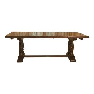 Robert Allen English Country Column Trestle Plank Wood Table Top