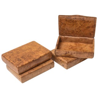 Birch Wood Cigarette Cases - Set of 4