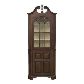 Early Chippendale Walnut Corner Cupboard
