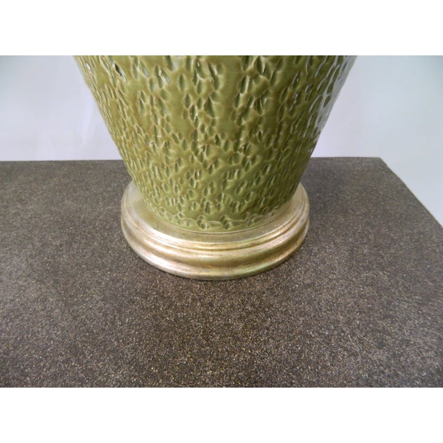 Green Tuscan Ceramic Table Lamp - Image 4 of 4