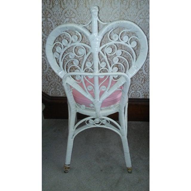 Vintage Wicker Heart Back Vanity Chair Chairish