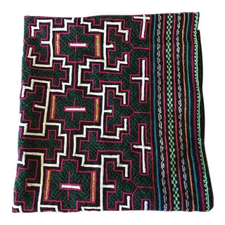 Mexican Hand Embroidered Colorful Textile