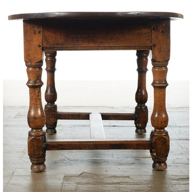 Image of 18th Century Fruitwood Oval Center Table