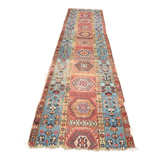 Antique Persian Tribal Runner Rug - 13' X 3'4""