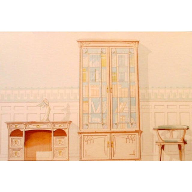 Vintage French Decorator Sheet Interior/Bookcase - Image 2 of 4