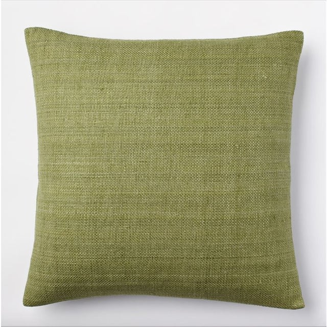 West Elm Green Tea Hand Loomed Silk Pillow Cover - Image 2 of 11