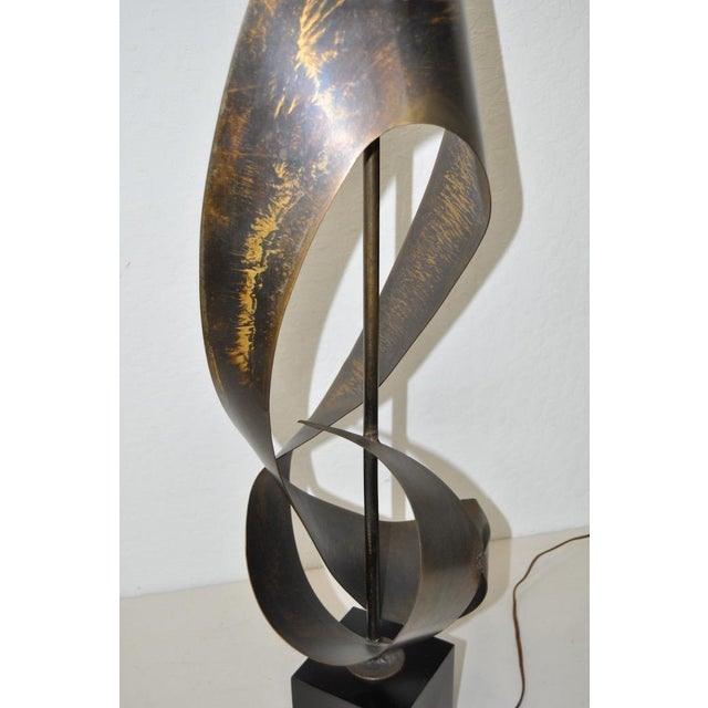 C.1960s Harry Balmer Sculptural Steel & Bronze Lamp - Image 8 of 9
