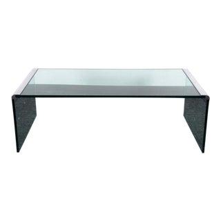 Brueton Steel Smoked Glass Coffee Table