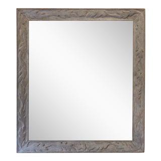 Hand Carved Oak Leaf & Acorn Whitewash Mirror
