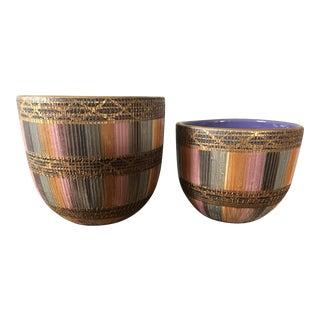 Aldo Londi Bitossi Seta Pottery Planters- a Pair
