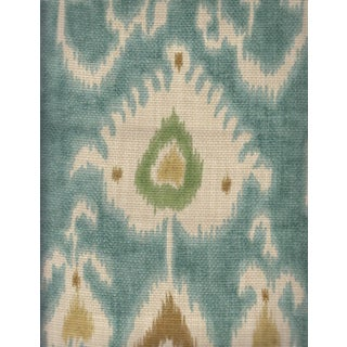 Portfolio Textiles Teal Ikat Fabric - 1.625 Yards