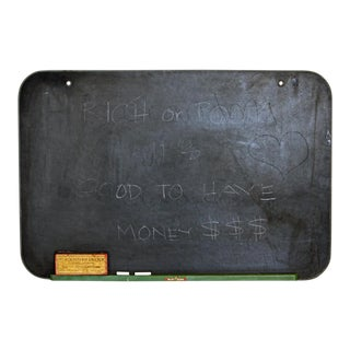 Vintage School Chalkboard and Eraser