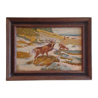 "Lodge Worthy Framed Vintage ""Buck"""