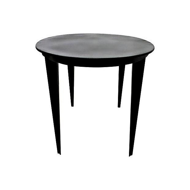 1950s Elliptical Iron Coffee Table - Image 4 of 4