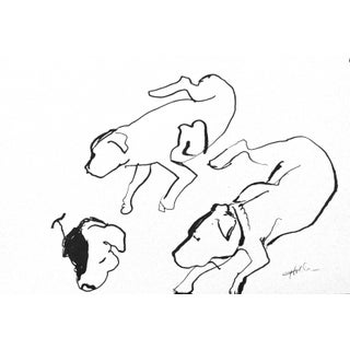 Dogs Ink Drawing