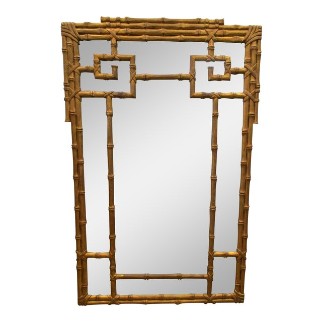 Vintage Gold Faux Bamboo Mirror - Image 1 of 4