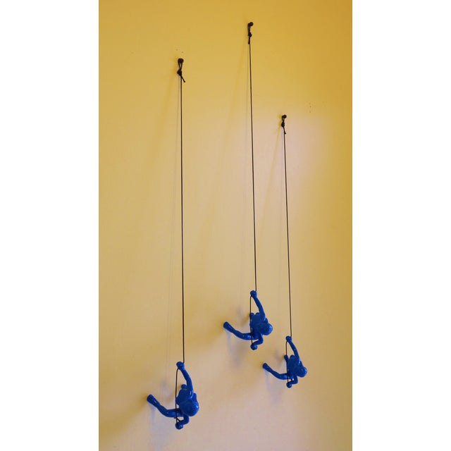 Blue Climbing Girls Wall Art - Set of 3 - Image 4 of 6