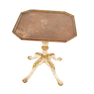 French Provincial Claw Foot Pedestal Side Table