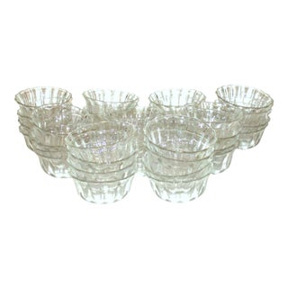 Vintage Glass Dessert Bowls - Set of 36