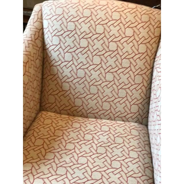 Geometric Pattern Swivel Club Chair - Image 5 of 5