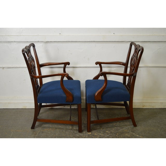 Chippendale Style Set of 8 Custom Mahogany Dining Chairs - Image 3 of 11