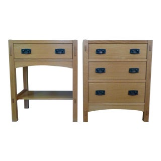 Stickley Mission Oak Nightstands - A Pair