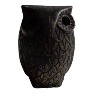 Vintage Boho Brass Owl Box