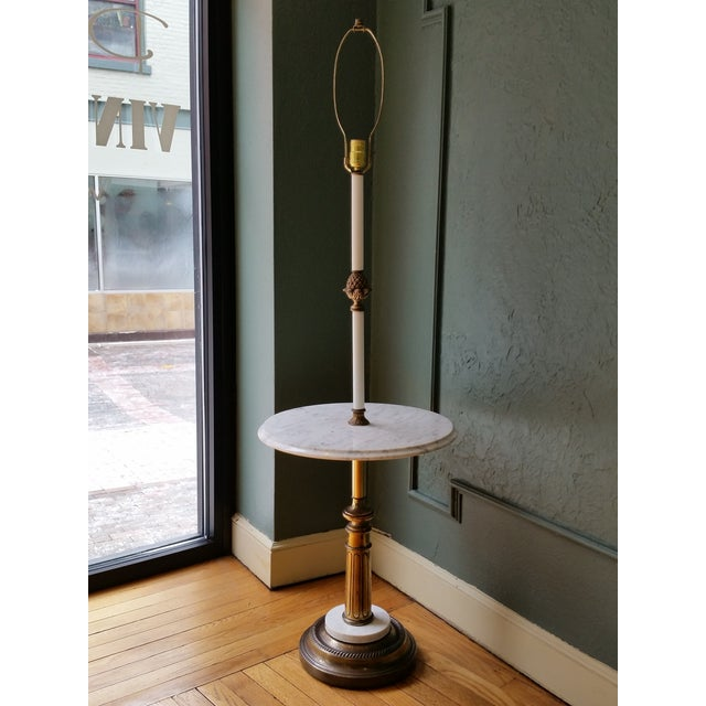 Image of Italian Brass & Marble Floor Lamp
