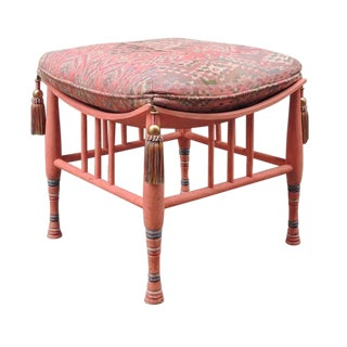 Early 20th C Egyptian Revival Stool or Ottoman