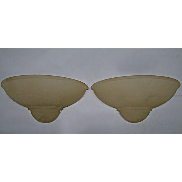 Art Deco Style Alabaster Sconces - A Pair - Image 2 of 7