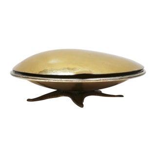 Italian Brass Clamshell & Starfish Box