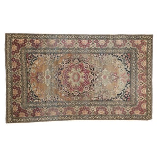 "Antique Isfahan Rug - 4'2"" x 6'10"""