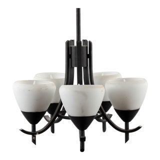 Arts & Crafts Style Gothic 5-Lamp Chandelier