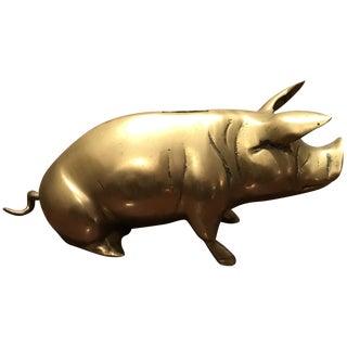 Humorous Brass Piggy Bank