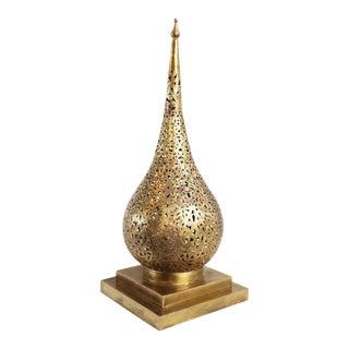 Brass Tear Drop Table Lantern