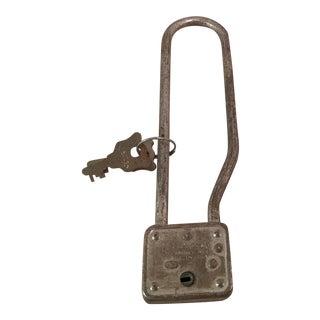 Vintage Master Bicycle Lock with Key