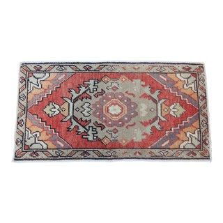 "Vintage Turkish Oushak Tribal Rug- 1'6"" x 2'10"""