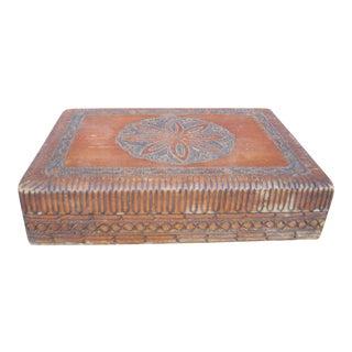 Geometric Playing Card Wood Box