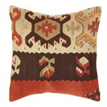 Image of Turkish Pasargad Decorative Vintage Kilim Pillow
