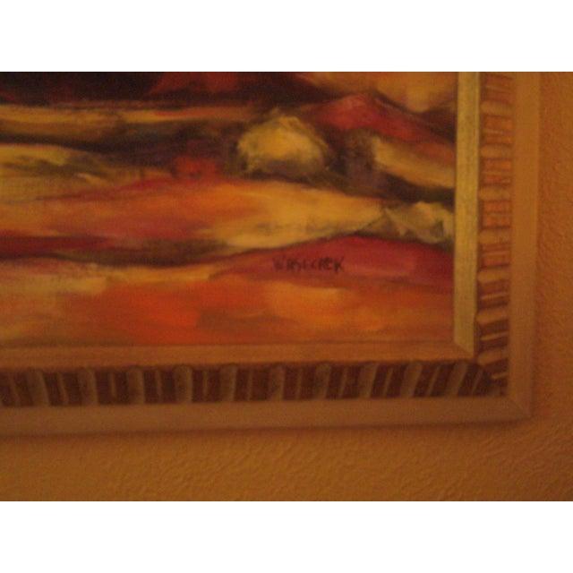 Original Vintage Oil Painting of Desert Landscape - Image 8 of 8