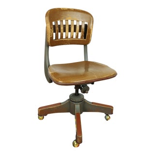 Antique Sikes Industrial Swivel Desk Office Chair