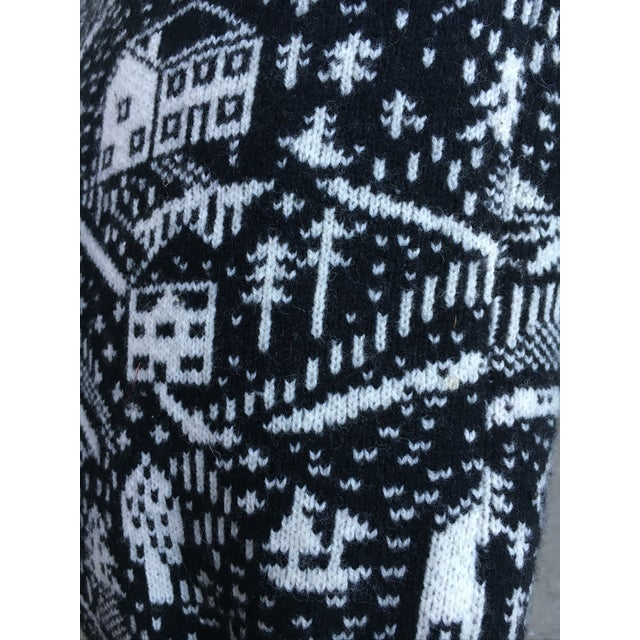 Black & White Cabin Scene Pillow by Donna Wilson - Image 4 of 4