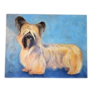 Yorkshire / Skye Terrier Acrylic Painting