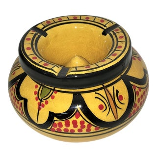 Mustard Yellow Moroccan Ashtray