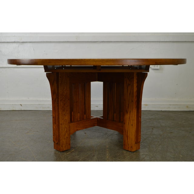 Mission Oak Style Solid Oak 60 Round Dining Table Chairish