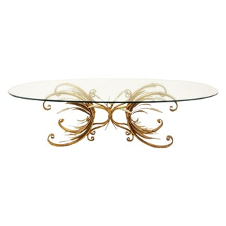 Hollywood Regency Italian Wheat Coffee Table