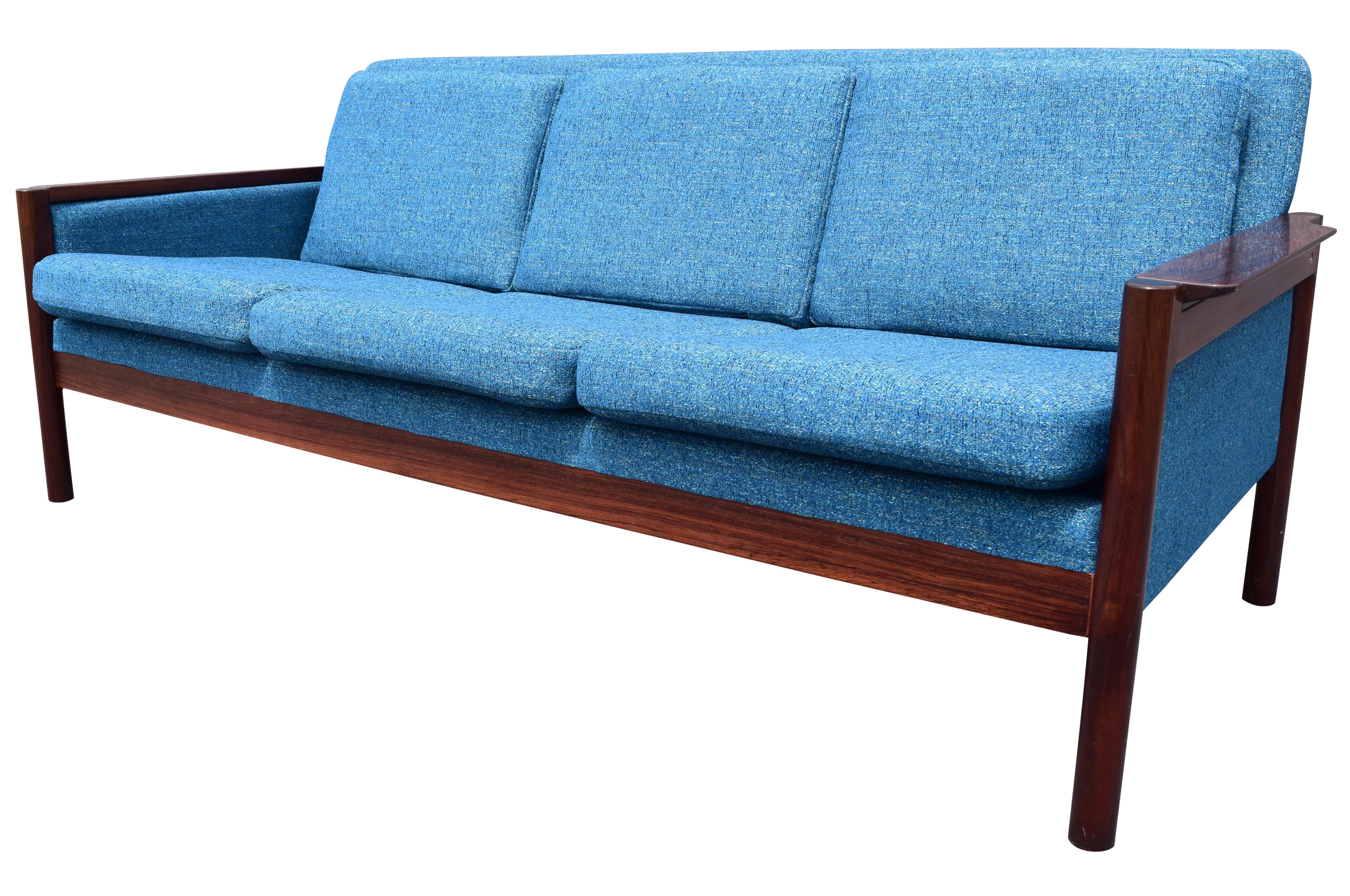 Vintage Danish Mid Century Rosewood Sofa