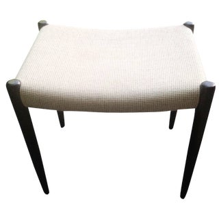 JL Moller Upholstered & Rosewood Stool