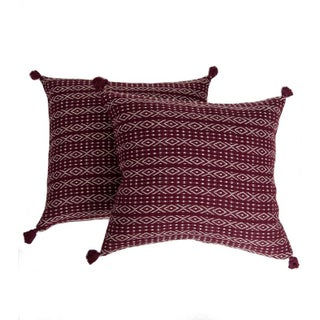 Red Mexican Pillow Covers - A Pair