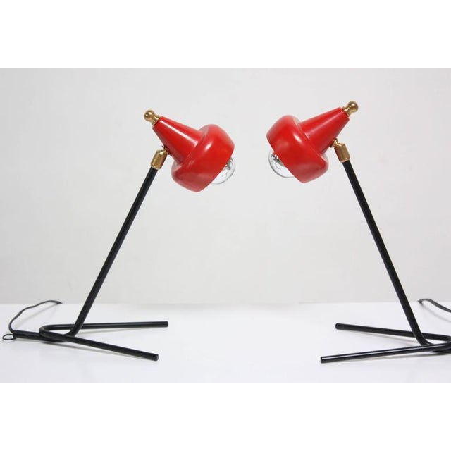 Pair of Petite Italian Table Lamps or Wall Sconces - Image 4 of 10